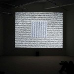 image of installation view of Lines In Two Directions (After Sol LeWitt)